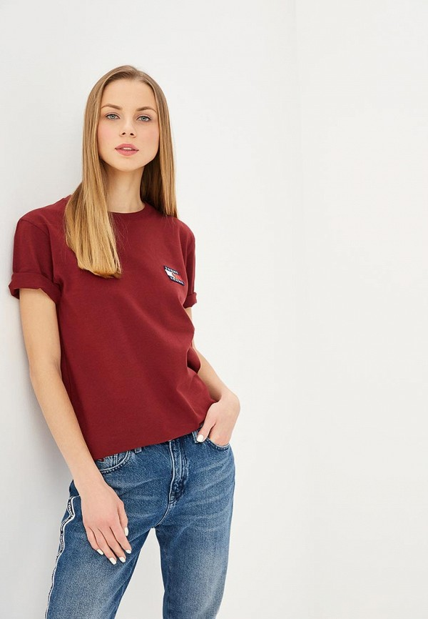 Футболка Tommy Jeans Tommy Jeans TO052EWDQPB4 футболка tommy jeans tommy jeans to052ewbide5
