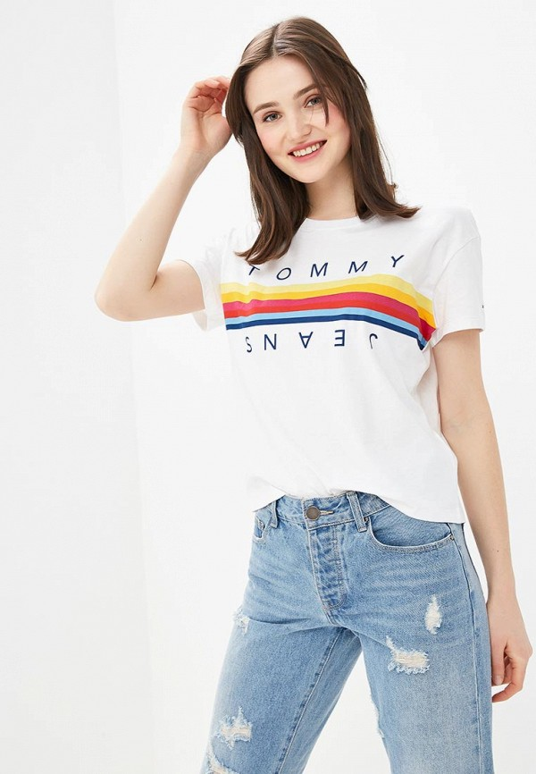 Футболка Tommy Jeans Tommy Jeans TO052EWDQPJ2 футболка tommy jeans