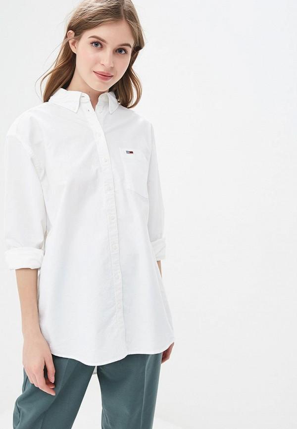 женская рубашка с длинным рукавом tommy jeans, белая