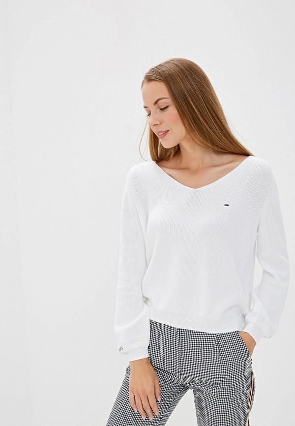 женский пуловер tommy jeans, белый
