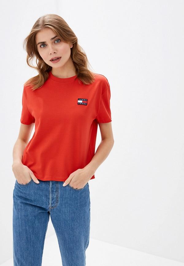 женская футболка tommy jeans, красная