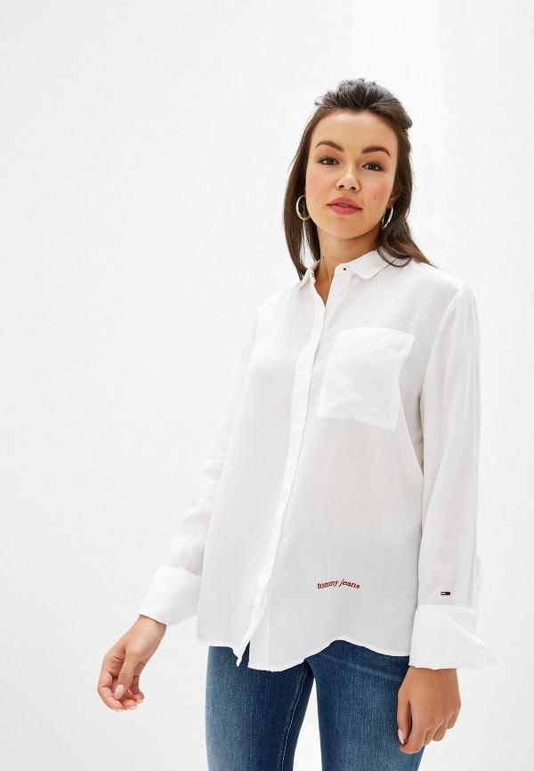 Купить женскую рубашку Tommy Jeans белого цвета