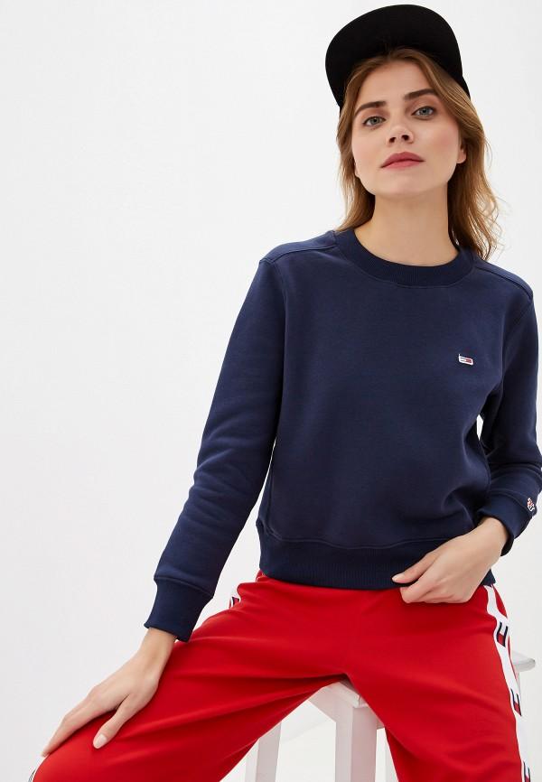 женский свитшот tommy jeans, синий