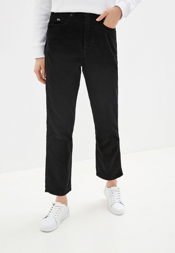 Фото - женские брюки Tommy Jeans черного цвета