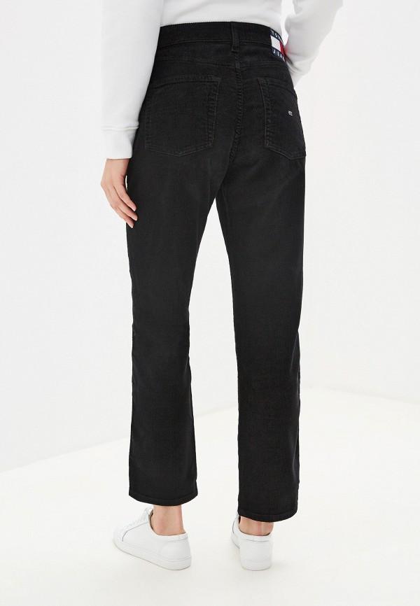 Фото 3 - женские брюки Tommy Jeans черного цвета