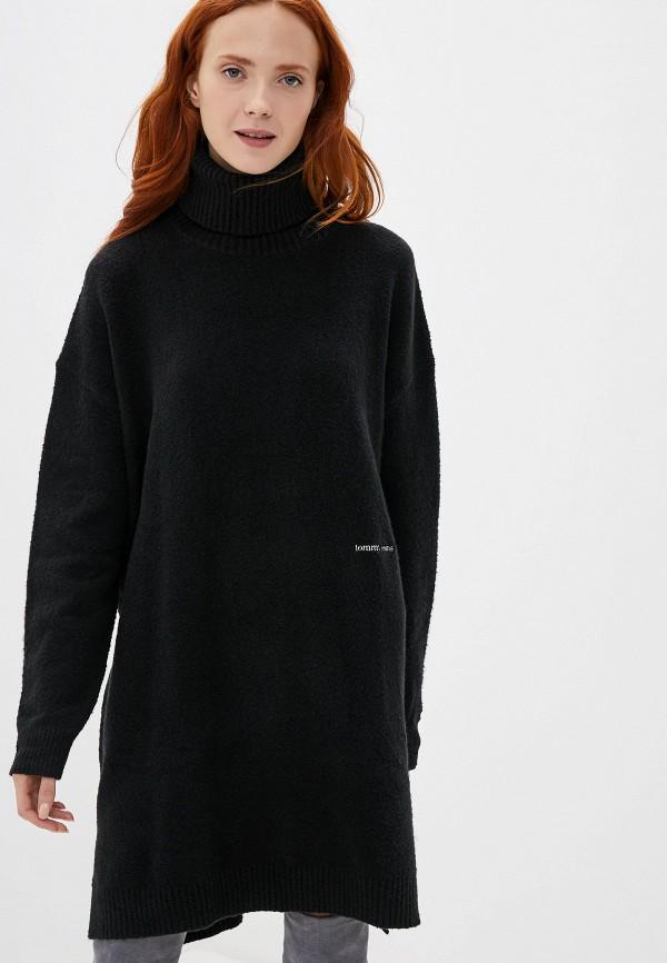 женское платье tommy jeans, черное