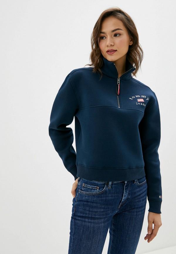 женская олимпийка tommy jeans, синяя