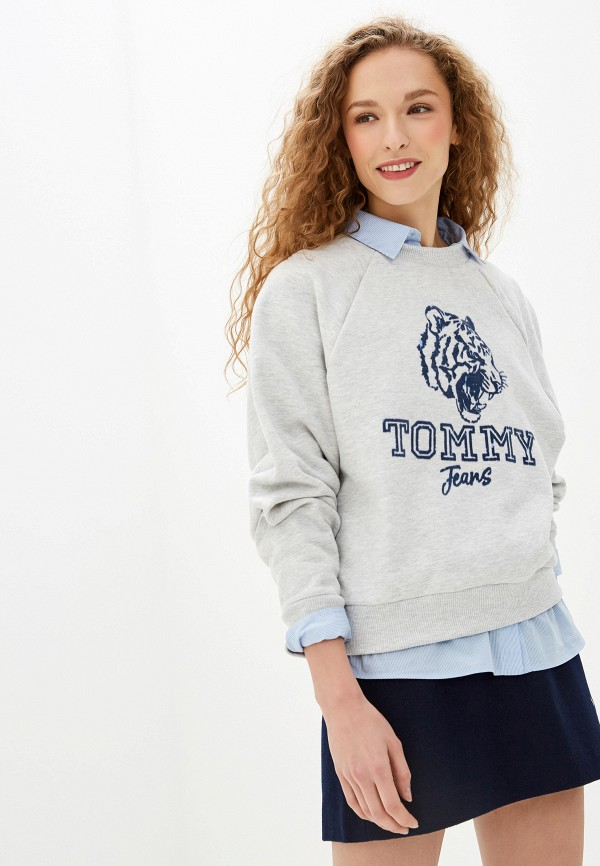 Свитшот Tommy Jeans Tommy Jeans TO052EWFVVW8 свитшот tommy jeans tommy jeans to052embwao8