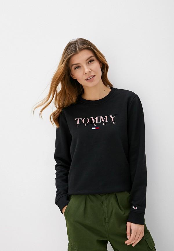 женский свитшот tommy jeans, черный
