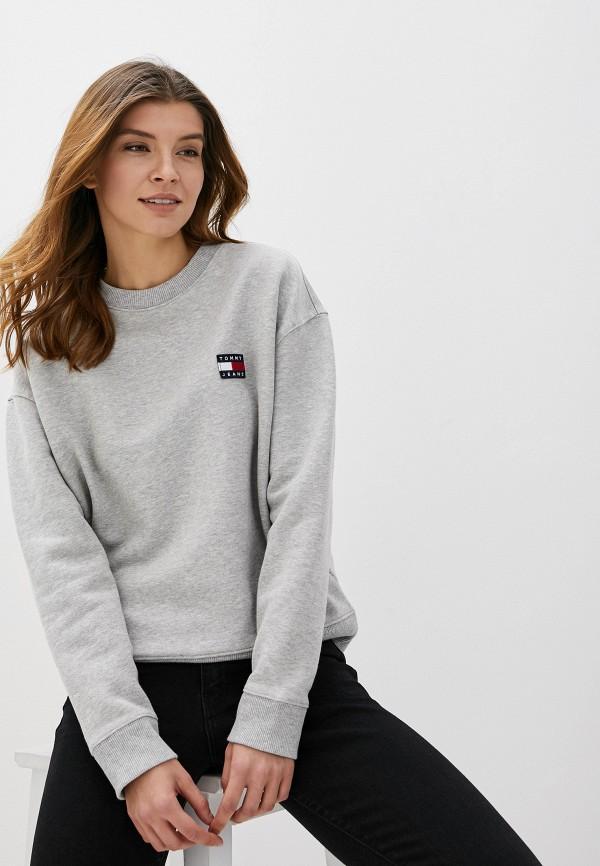 женский свитшот tommy jeans, серый