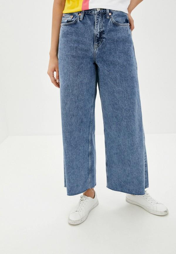 женские джинсы клеш tommy jeans, синие