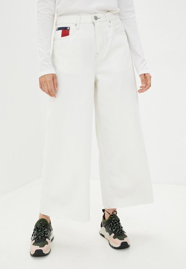 женские джинсы клеш tommy jeans, белые