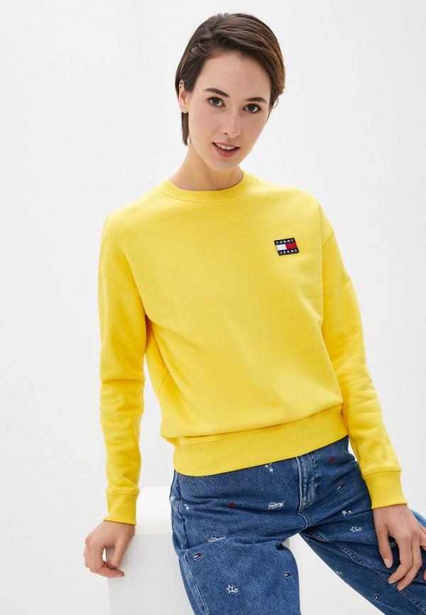 женский свитшот tommy jeans, желтый