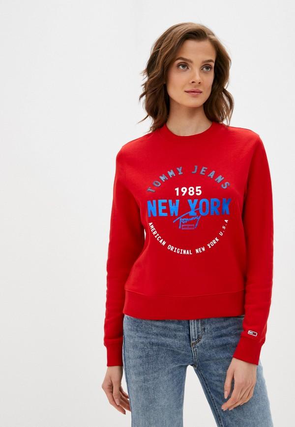 женский свитшот tommy jeans, красный