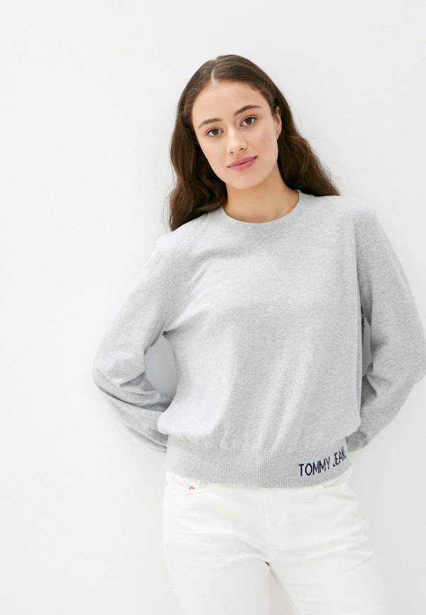 женский джемпер tommy jeans, серый