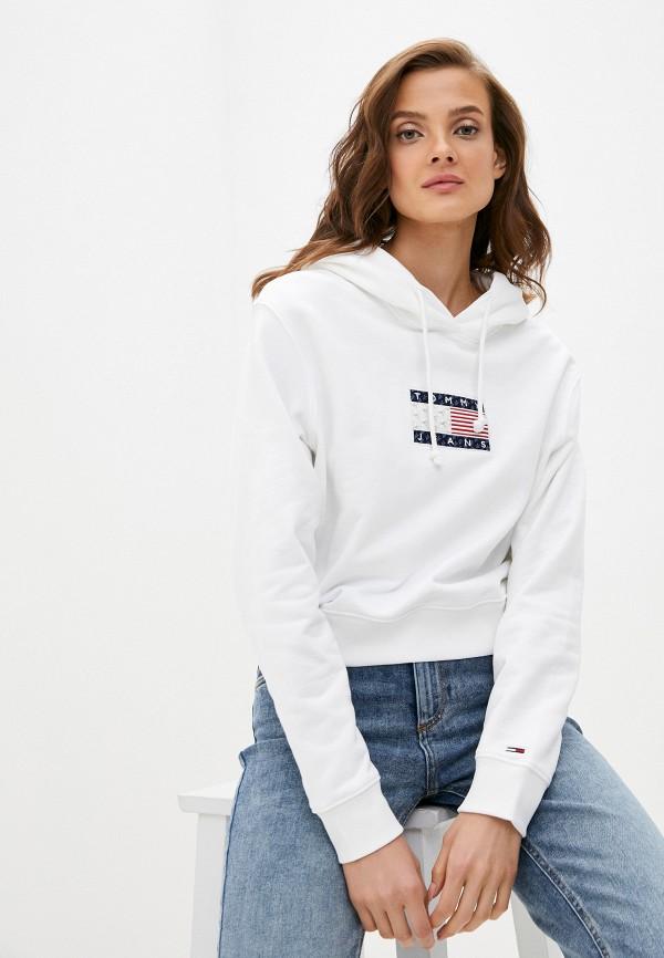 женские худи tommy jeans, белые