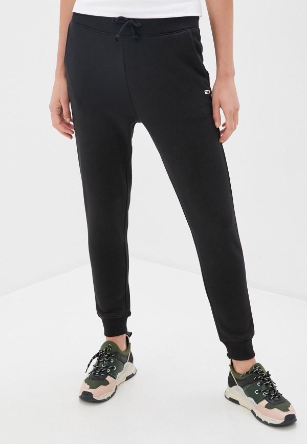 женские спортивные брюки tommy jeans, черные