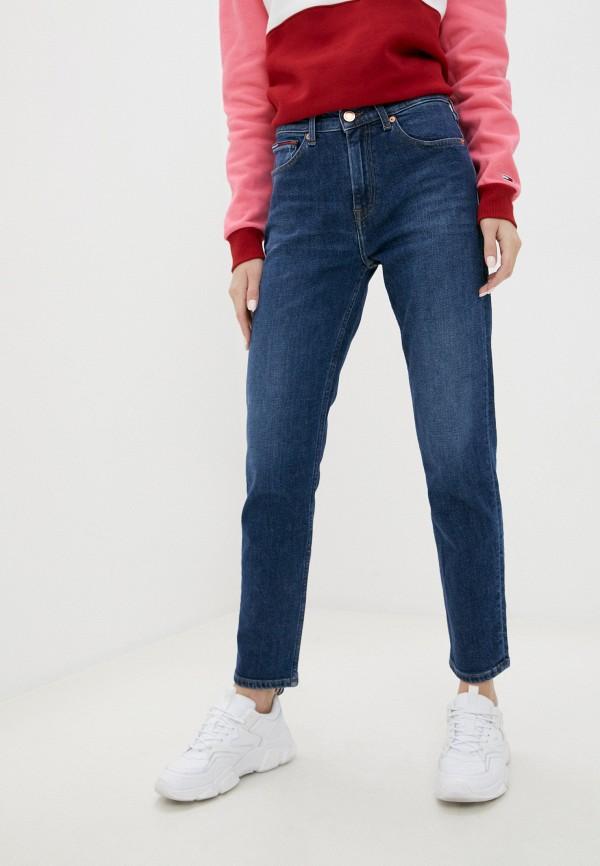 женские прямые джинсы tommy jeans, синие