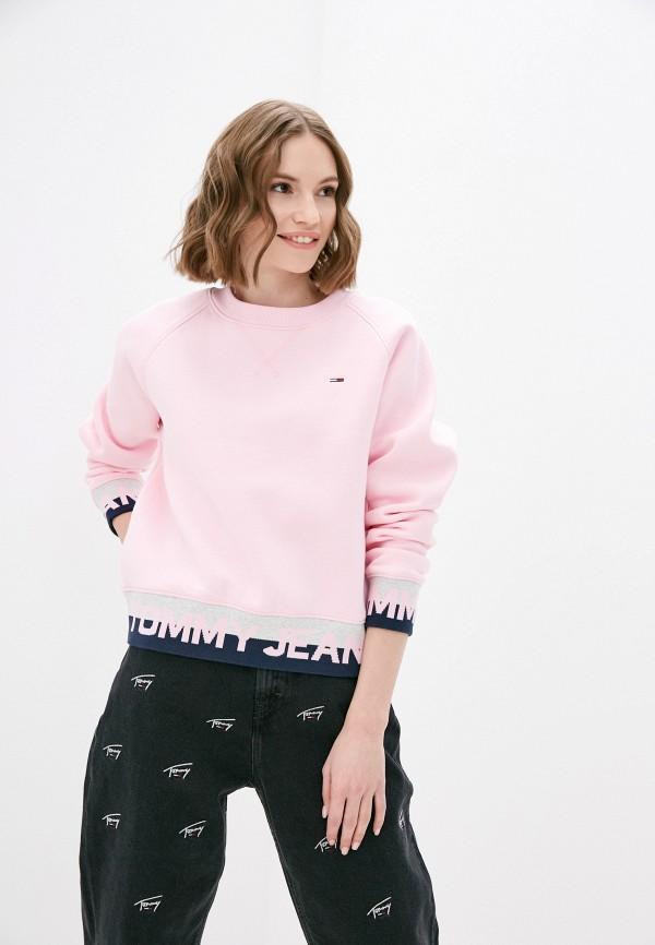 женский свитшот tommy jeans, розовый
