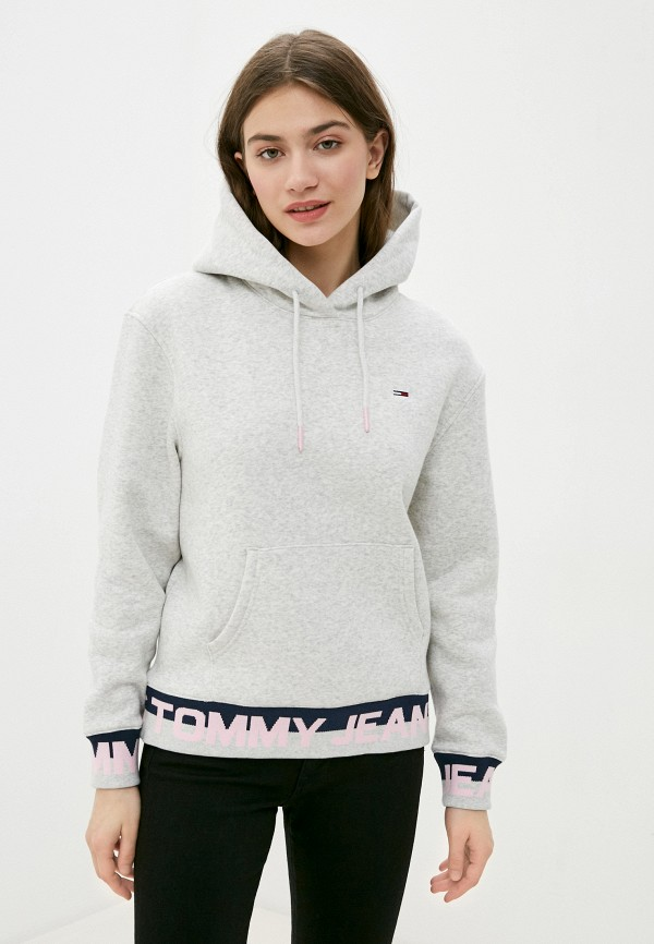 женские худи tommy jeans, серые