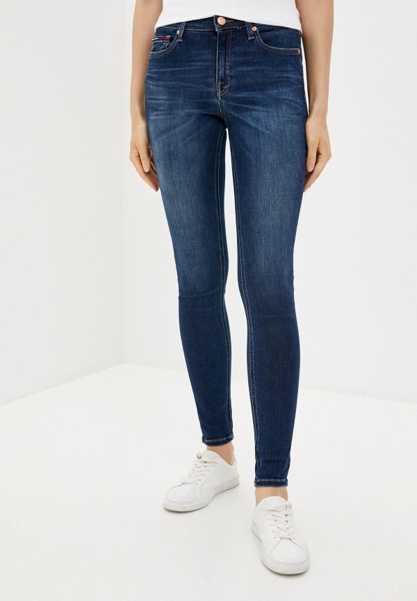 женские джинсы tommy jeans, синие
