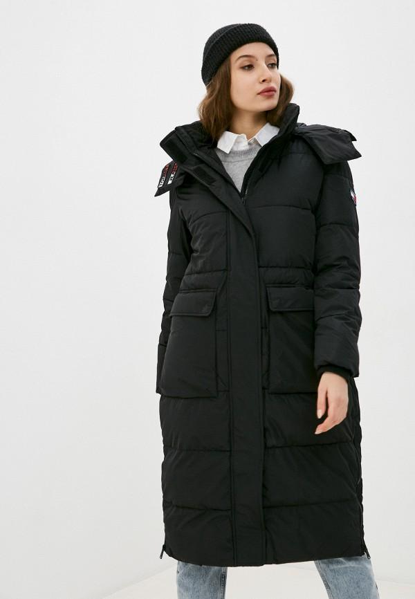 женская куртка tommy jeans, черная