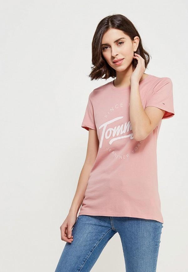купить Футболка Tommy Jeans Tommy Jeans TO052EWZFW74 по цене 3990 рублей