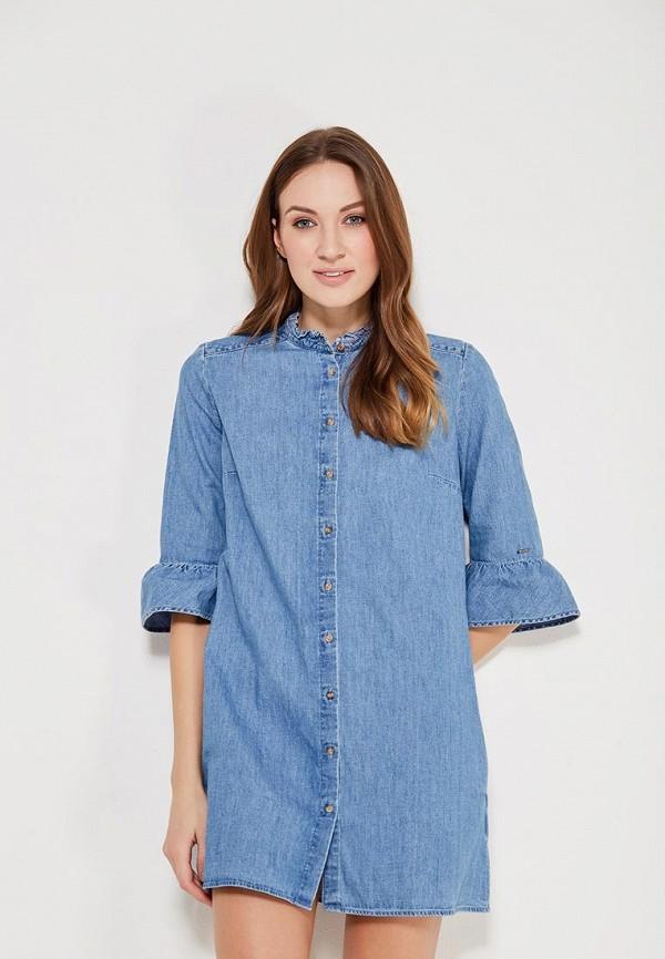 женское джинсовые платье tommy jeans, голубое