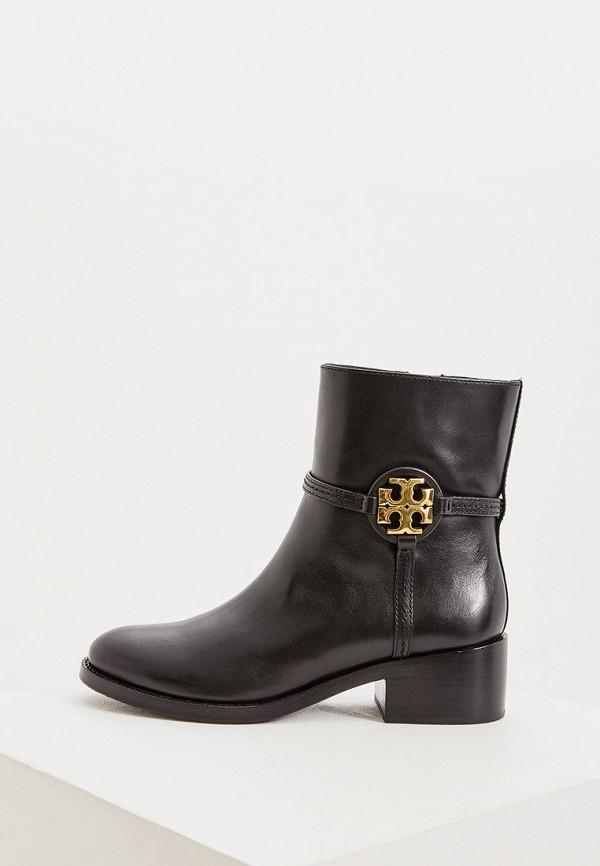 женские высокие ботинки tory burch, черные