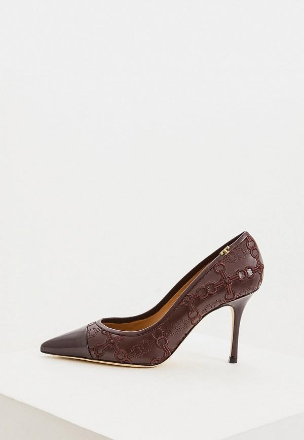 женские туфли-лодочки tory burch, бордовые