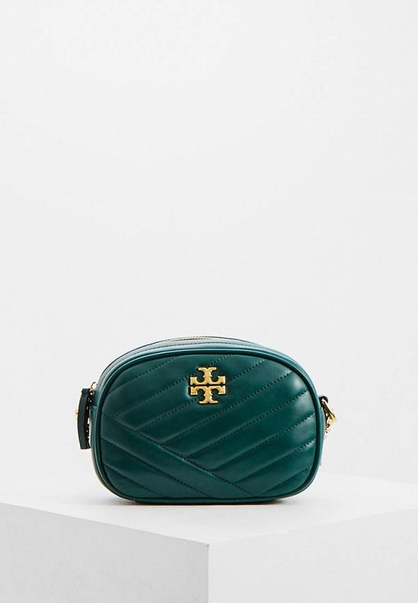 женская сумка tory burch, зеленая