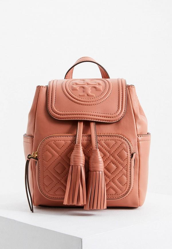 женский рюкзак tory burch, розовый