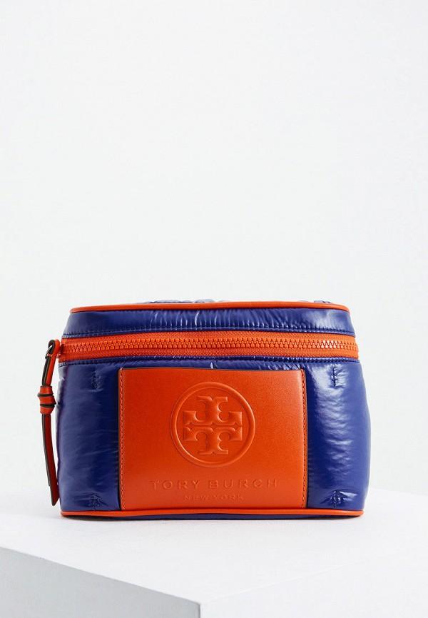 женская сумка tory burch, синяя