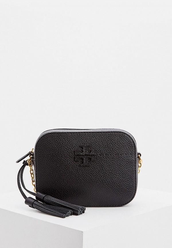 женская сумка через плечо tory burch, черная