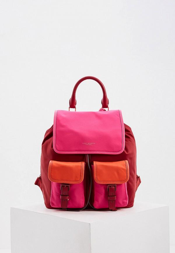 женский рюкзак tory burch, красный