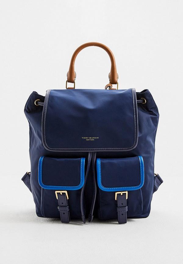 женский рюкзак tory burch, синий