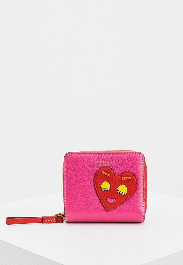 женский кошелёк tory burch, розовый