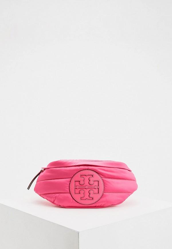 женская поясные сумка tory burch, розовая