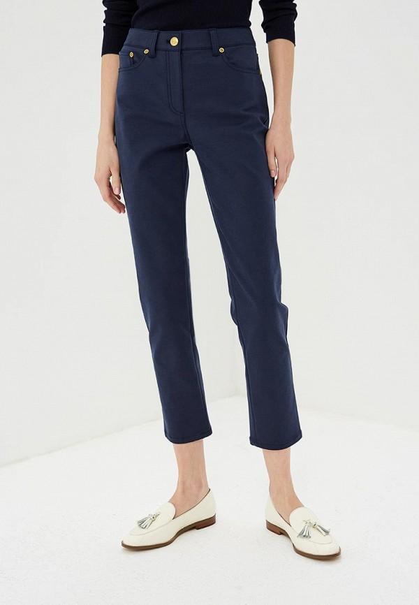 женские зауженные брюки tory burch, синие
