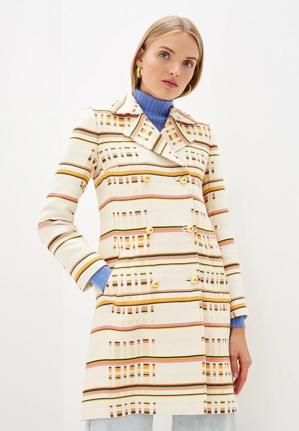 женское пальто tory burch, бежевое