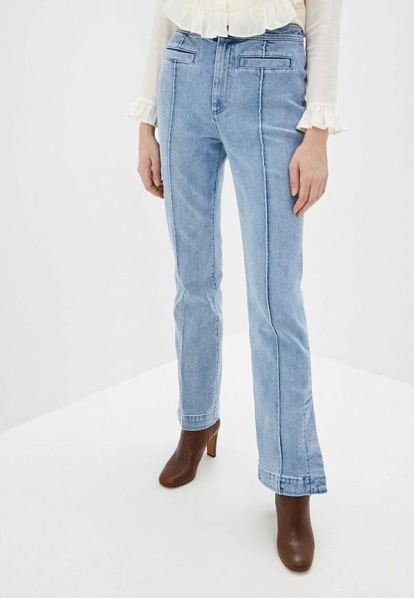 женские джинсы клеш tory burch, голубые