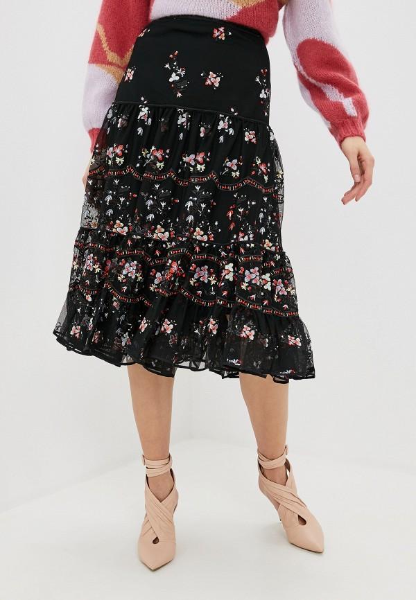 женская юбка-трапеции tory burch, черная