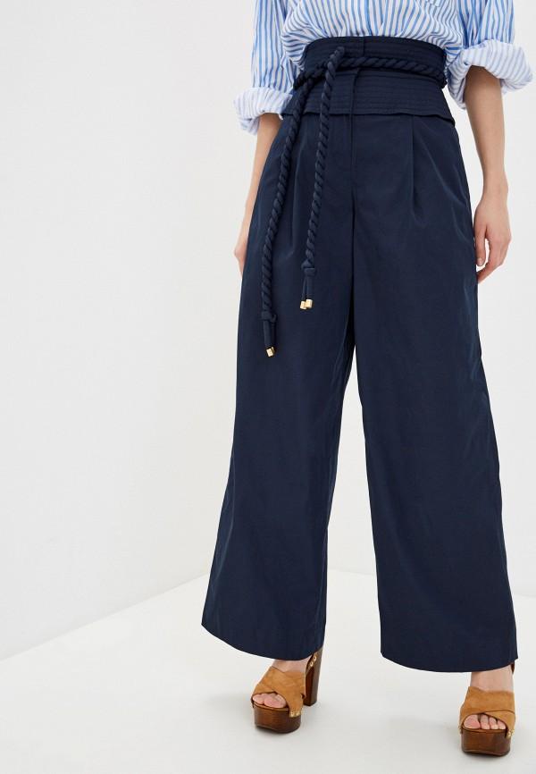 женские повседневные брюки tory burch, синие