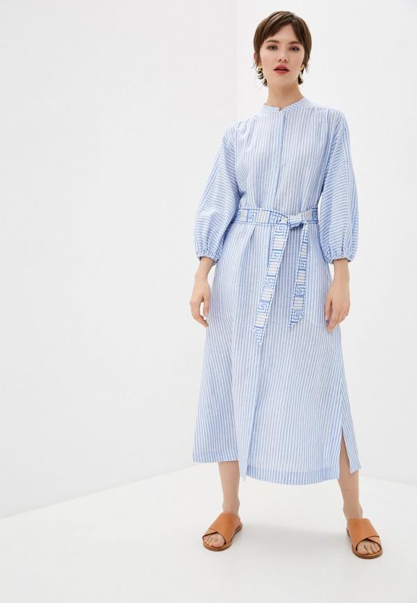 женское повседневные платье tory burch, голубое