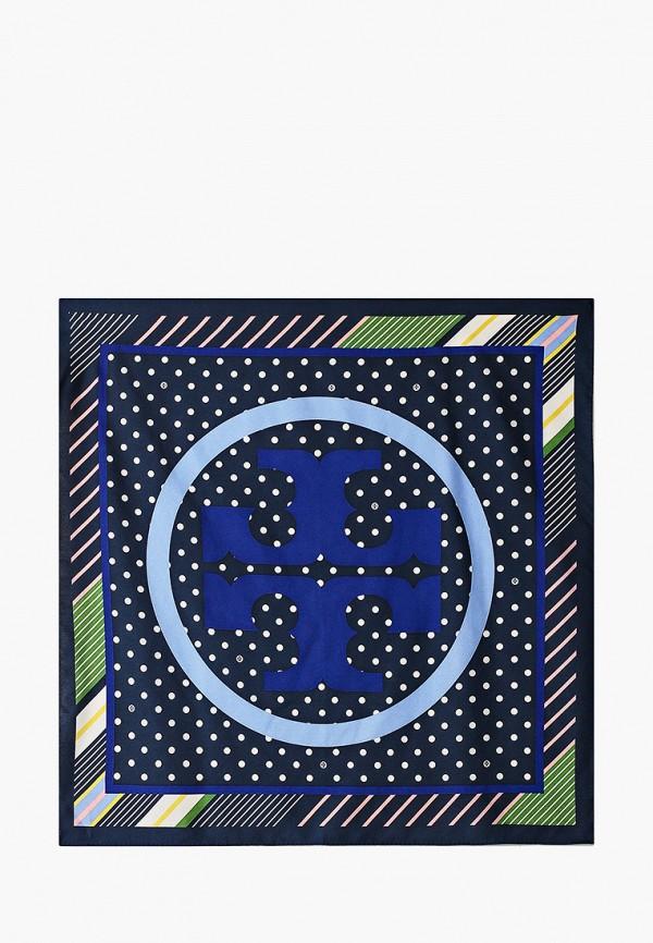 женский платок tory burch, синий