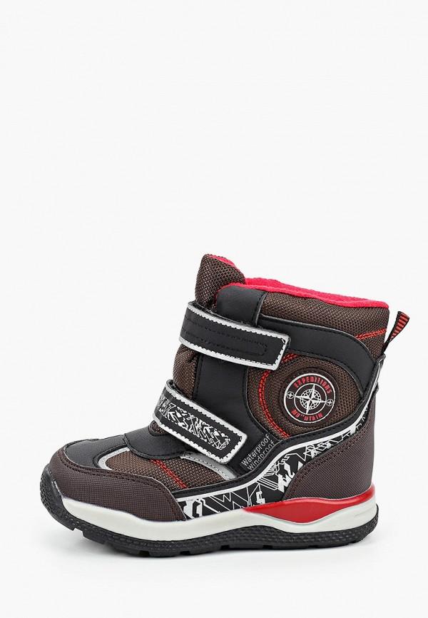 ботинки tom-miki для мальчика, коричневые