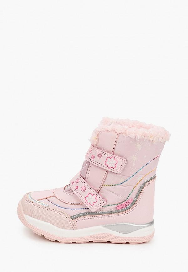 ботинки tom-miki для девочки, розовые