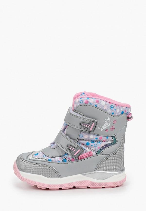 ботинки tom-miki для девочки, серые