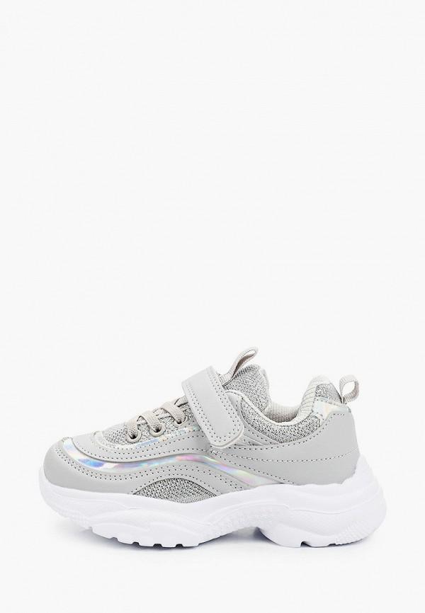 кроссовки tom-miki для девочки, серебряные