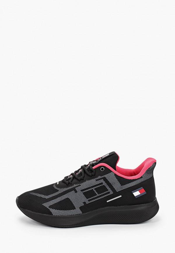 женские кроссовки tommy sport, черные